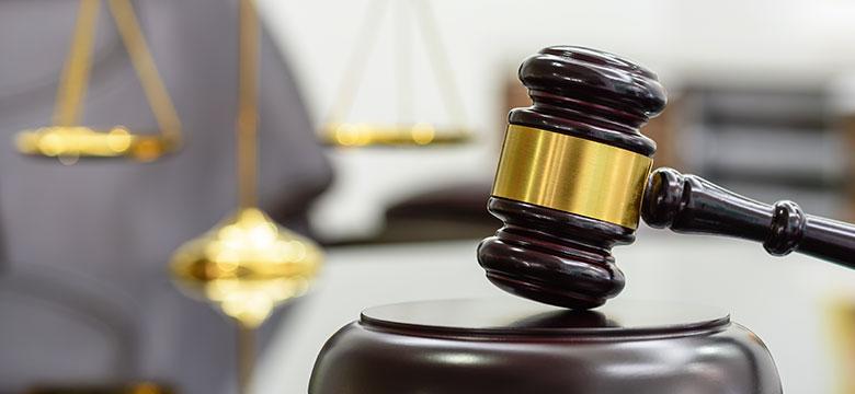 Judge Gavel in Criminal Case